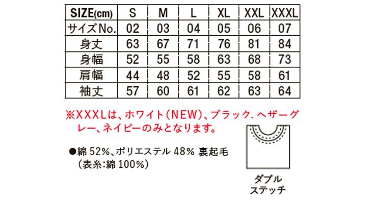 10.0oz T/Cクルーネックスウェット サイズ