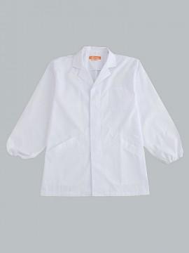 CR-EL600 衿付き調理衣(メンズ・長袖) トップス 白 ホワイト