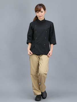 CR-CK5 ブラックコックコート七分袖 全身