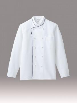 ARB-DN6433 コックコート(男女兼用・長袖) 拡大画像・ホワイト