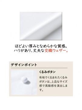 ARB-DN6433 コックコート(男女兼用・長袖) 生地拡大