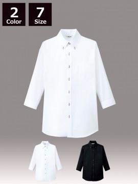 ボタンダウンシャツ(男女兼用・七分袖)