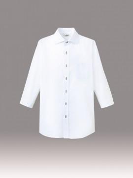 ARB-EP7822 ワイドカラーシャツ(男女兼用・七分袖) ホワイト