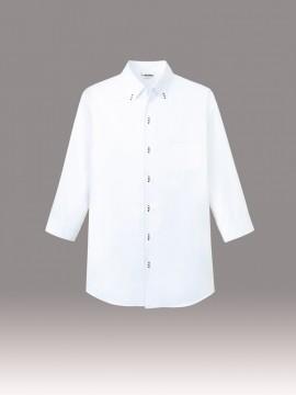 ボタンダウンシャツ(男女兼用・七分袖) トップス