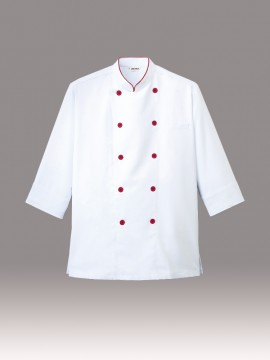 ARB-AS7804 コックシャツ 男女兼用 七分袖 拡大画像