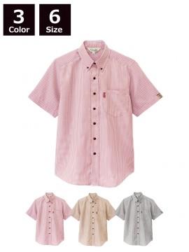 BS-33301 ボタンダウンシャツ トップス ストライプ