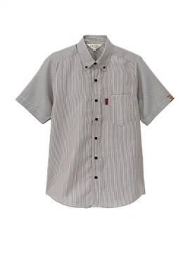 BS-33303 ボタンダウンシャツ チェック 黒 ブラック