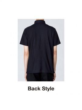 WE-00225-SBP 5.3oz スタンダードB / Dポロシャツ(ポケット付) バックスタイル