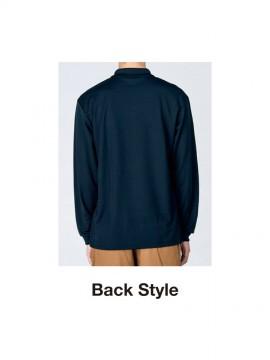 WE-00335-ALP 4.4オンス ドライ長袖ポロシャツ(ポケット付) バックスタイル