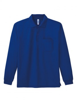WE-00335-ALP 4.4オンス ドライ長袖ポロシャツ(ポケット付) 拡大画像