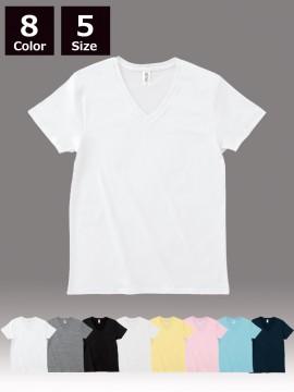 4.3oz スリムフィット Vネック Tシャツ