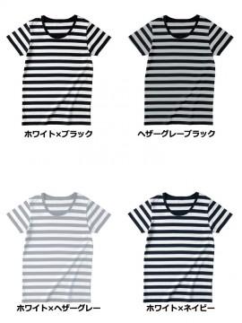 SBT126 ウィメンズ ボーダー Tシャツ カラー一覧