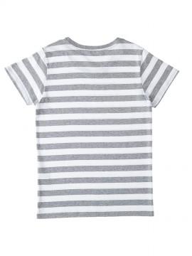 SBT126 ウィメンズ ボーダー Tシャツ バックスタイル