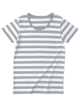 SBT126 ウィメンズ ボーダー Tシャツ 拡大