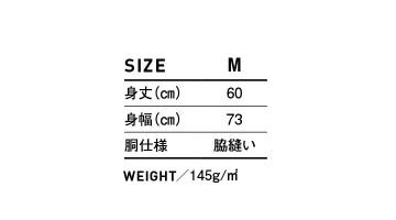 WNS807 スリーブレス ワイド Tシャツ サイズ表