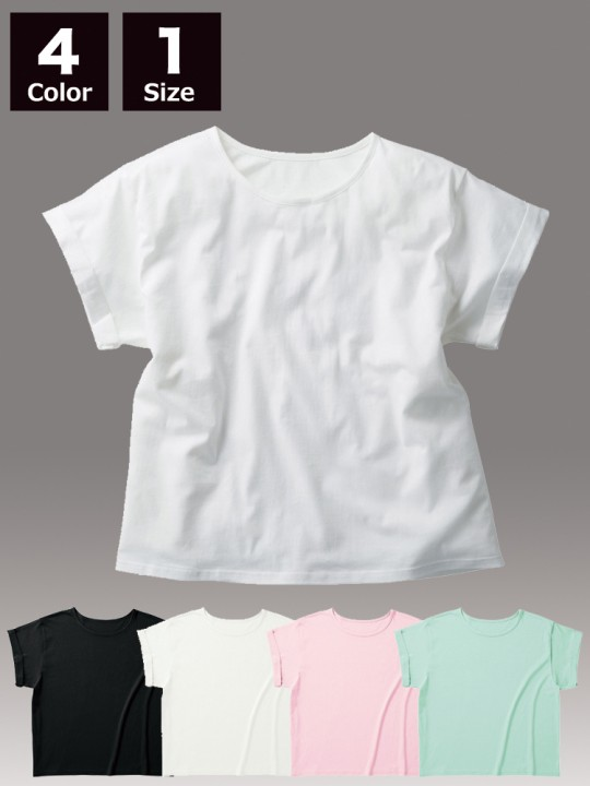 WRU806 ウィメンズ ロールアップ  Tシャツ