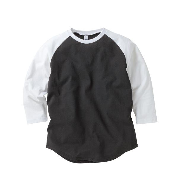 6.2oz オープンエンド ラグラン 3/4スリーブ Tシャツ