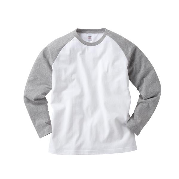 6.2oz オープンエンド ラグラン ロングスリーブ Tシャツ
