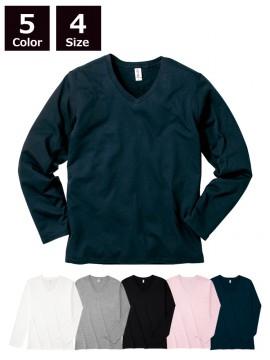4.3oz スリムフィット Vネック ロングスリーブ Tシャツ