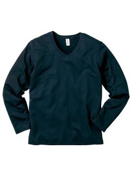 SVL115 スリムフィット VネックロングスリーブTシャツ 拡大