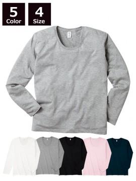 4.3oz スリムフィット Uネック ロングスリーブ Tシャツ
