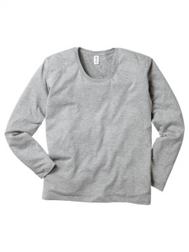 SUL116 スリムフィット UネックロングスリーブTシャツ 拡大
