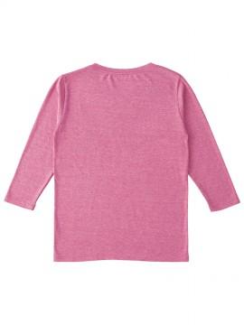 TBL117 トライブレンド3/4スリーブTシャツ(レディース) バックスタイル