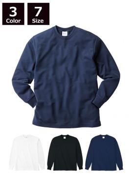 4.1ozハニカム長袖Tシャツ(リブ有り)