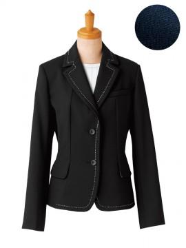 フレンチツイル デザインスリムジャケット(レディース)