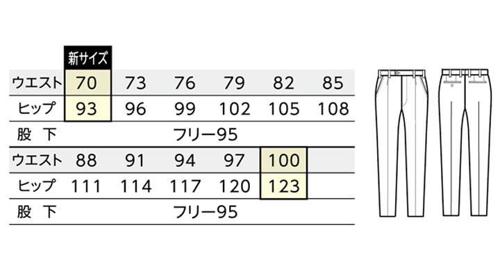BS-12117 スラックス(メンズ) サイズ
