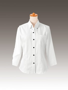 BS-24213 ボタンダウンシャツ 拡大画像 トップス モデル着用