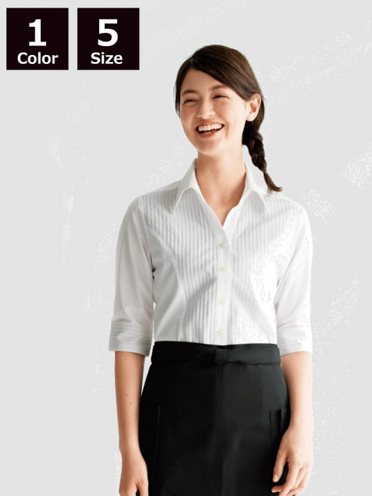 BS-04905 5分袖シャツ(レディース) 着用イメージ