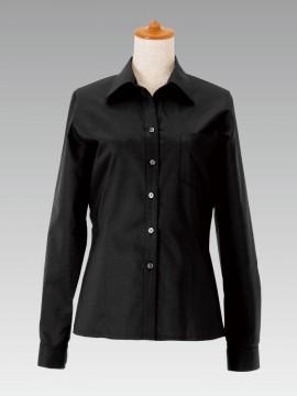 BS-14209 ベルカラーシャツ(レディース) 黒