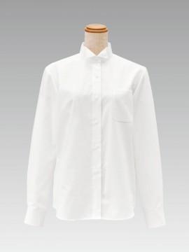 BS-14221 ウィングカラーシャツ(レディース) 拡大画像