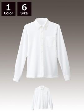BS-24305 ボタンダウンシャツ ホワイト 白