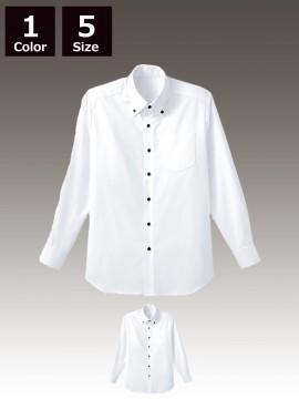 BS-34105 ボタンダウンシャツ 白 ホワイト
