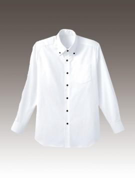 BS-34105 ボタンダウンシャツ 白 ホワイトホワイト