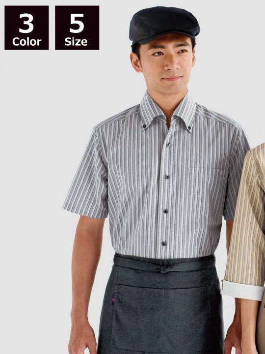 BS-23301 ボタンダウンシャツ ストライプ