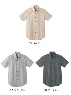 BS-23301 ボタンダウンシャツ  ストライプ トップス カラー一覧