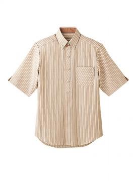 BS-23303 ボタンダウンシャツ トップス ベージュ