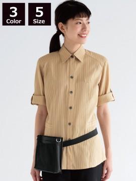 BS-00101 レギュラーカラーシャツ(レディース) 着用画像