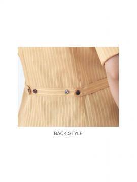 BS-00101 レギュラーカラーシャツ(レディース) バックスタイル