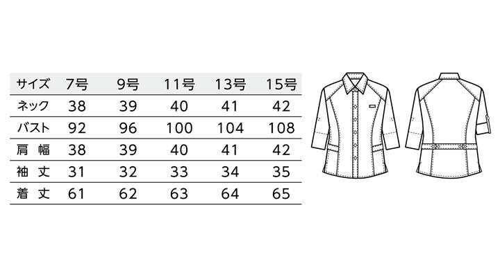 BS-00101 レギュラーカラーシャツ(レディース) サイズ