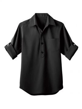 BS-00100 プルオーバーシャツ(男女兼用) 黒
