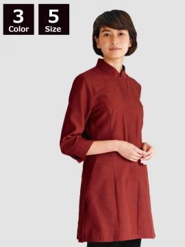 BS-24231 マオカラーシャツ 赤