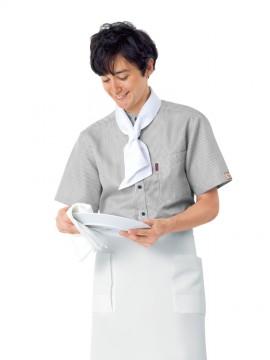 BS-33302 スタンドカラーシャツ モデル画像