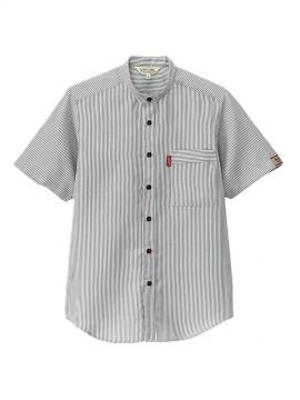 BS-33302 スタンドカラーシャツ 拡大画像