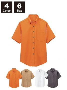 BS-08932 【08932】ボタンダウンシャツ(男女兼用) トップス ベージュ