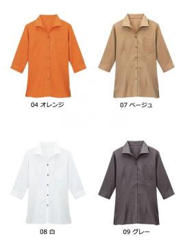 BS-08935 イタリアンカラーシャツ(レディース) カラー一覧