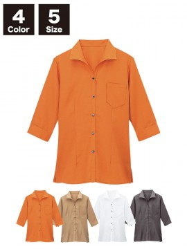 BS-08935 イタリアンカラーシャツ(レディース) 商品一覧